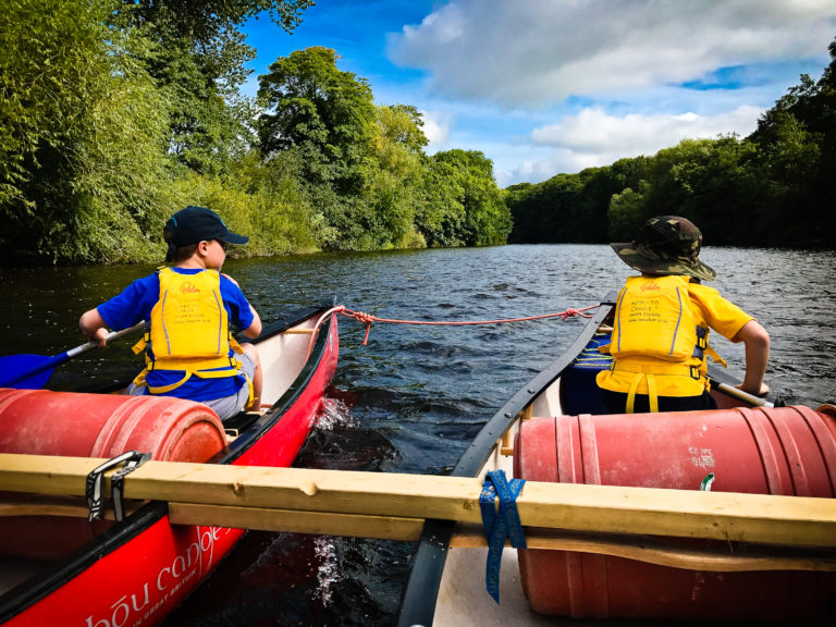 racquety farm family canoe adventure river wye