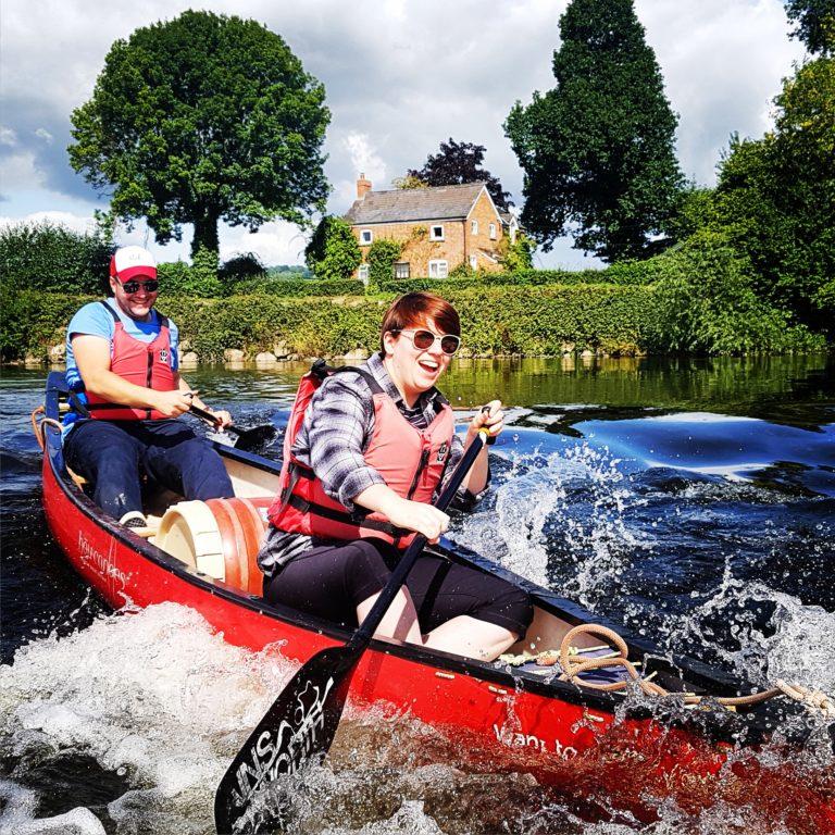 family canoe adventure river wye